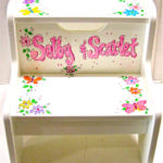 Painted Step Stool  Butterfly