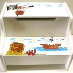 Painted Step Stool  Pirate