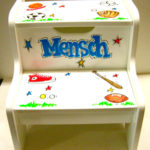 Painted Step Stool  Sports