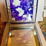 Lisa Glass Box  flowers inside