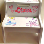 Hand Painted Step Stool Ballet