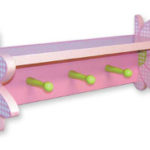 Wood Shelve with pegs  flower