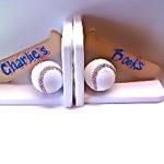 Bookends  Baseball Bat & Balls