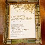 Glass Box Invitation  Kathryn & Jonathan