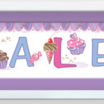 Walldoddle  Cupcakes plum