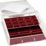 Lucite jewelry box open