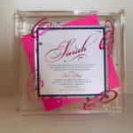 Sarah   Hot-Pink- Lucite-Box