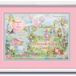 Birth Art 16x20 Jungle-Grey-Pink