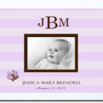 Lilac Stripe_with Butterfly Monogrammed Photo Frame