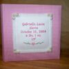 PINK GINGHAM BIRTH PHOTO ALBUM