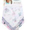 Owls and Flowers 3 Pack Jersey Bandana Bib Set1