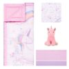 Sweet Unicorn 4 Piece Crib Bedding Set2