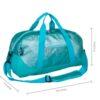 Blue Glitter Overnighter Duffel Bag
