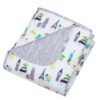 Dinosaurs Around the World Reversible Jersey Crib Quiltjpeg