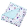 Mermaids Reversible Jersey Crib Quilt