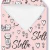 Hooded Towel girl cute kittens hearts on pink
