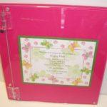 Lucite Photo Album  with invitation