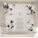 Lucite Invitation Box  painted