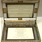 Glass Invitation Box  open